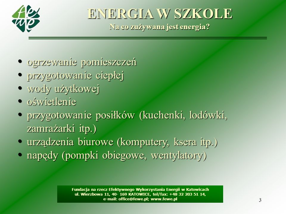 Na co zużywana jest energia
