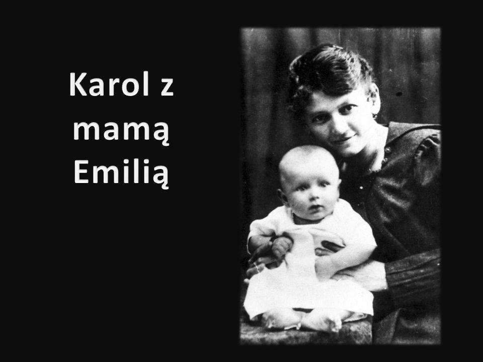 Karol z mamą Emilią
