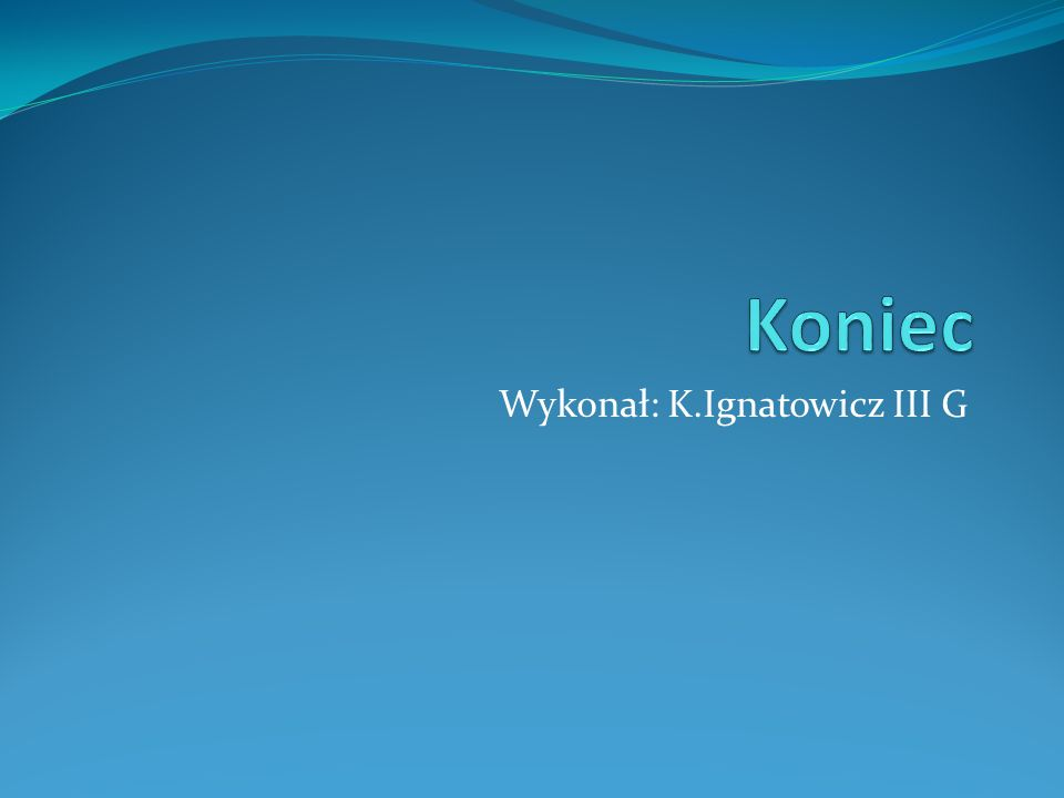 Wykonał: K.Ignatowicz III G