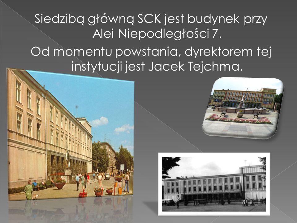 Siedzibą główną SCK jest budynek przy Alei Niepodległości 7