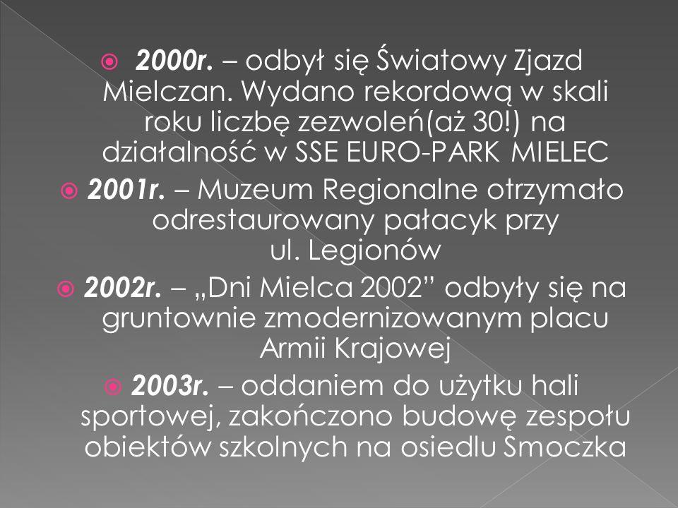 2000r. – odbył się Światowy Zjazd Mielczan