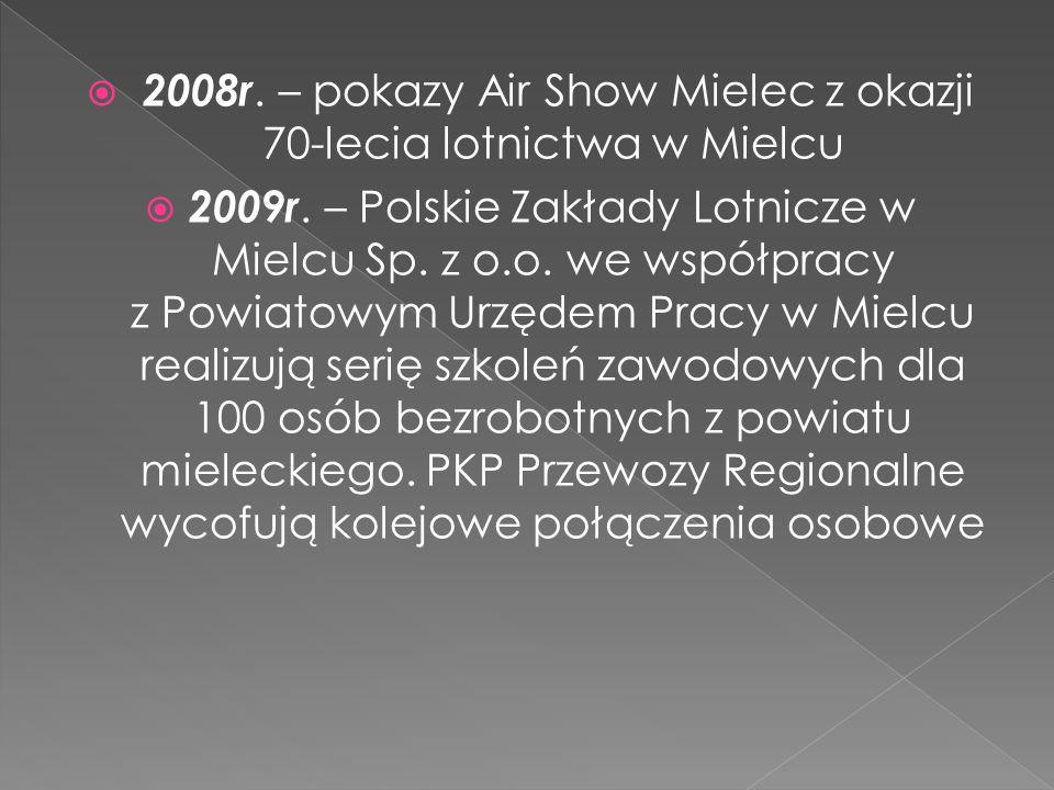 2008r. – pokazy Air Show Mielec z okazji 70-lecia lotnictwa w Mielcu