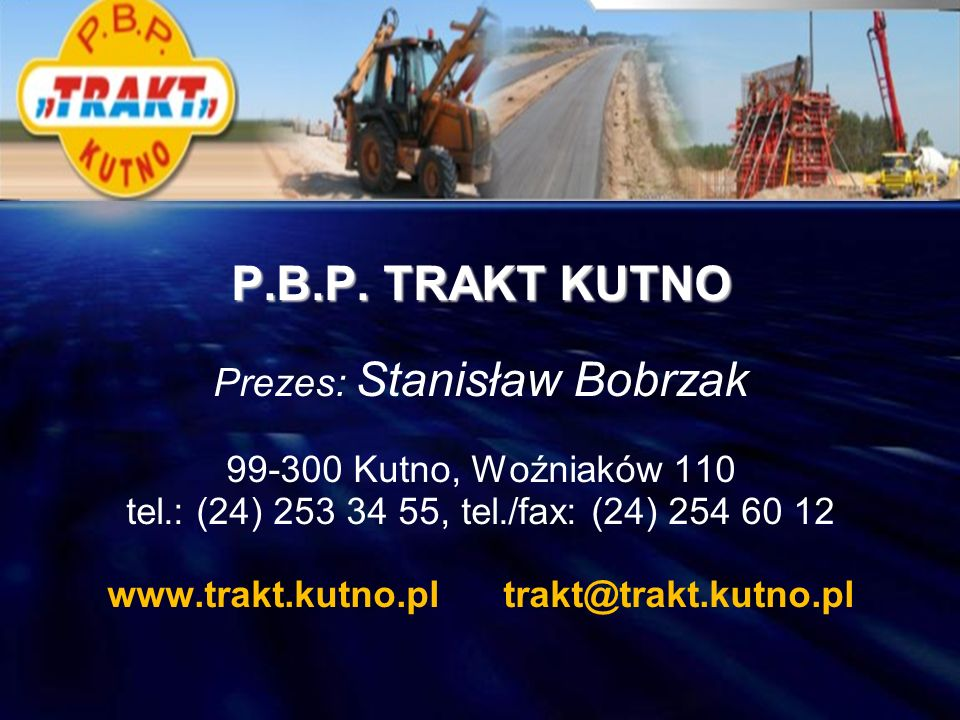 www.trakt.kutno.pl trakt@trakt.kutno.pl