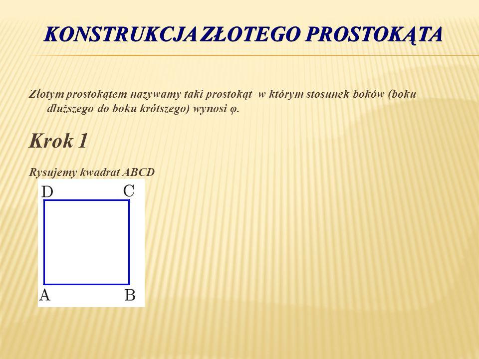 Konstrukcja złotego prostokąta