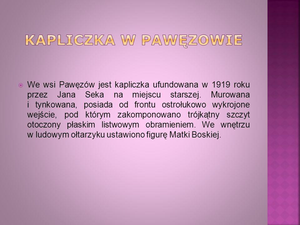 Kapliczka w Pawęzowie