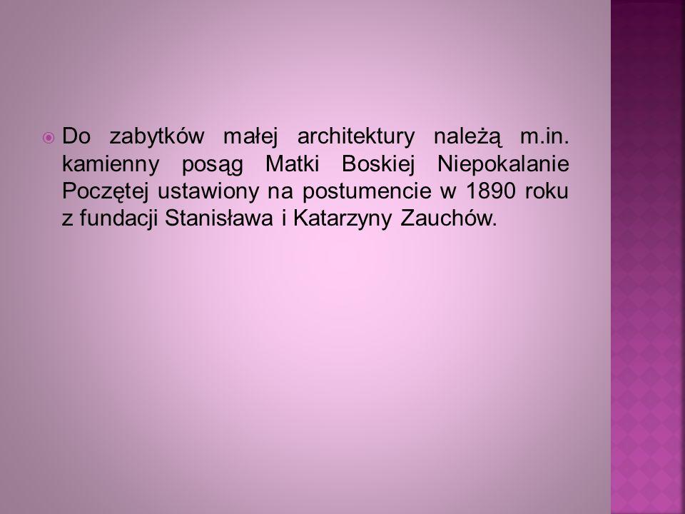 Do zabytków małej architektury należą m. in