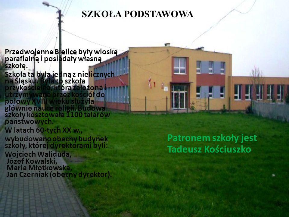 Patronem szkoły jest Tadeusz Kościuszko