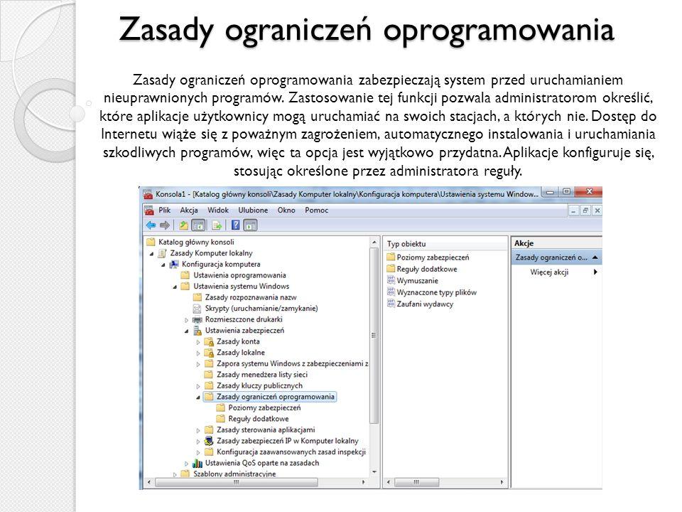 Zasady ograniczeń oprogramowania