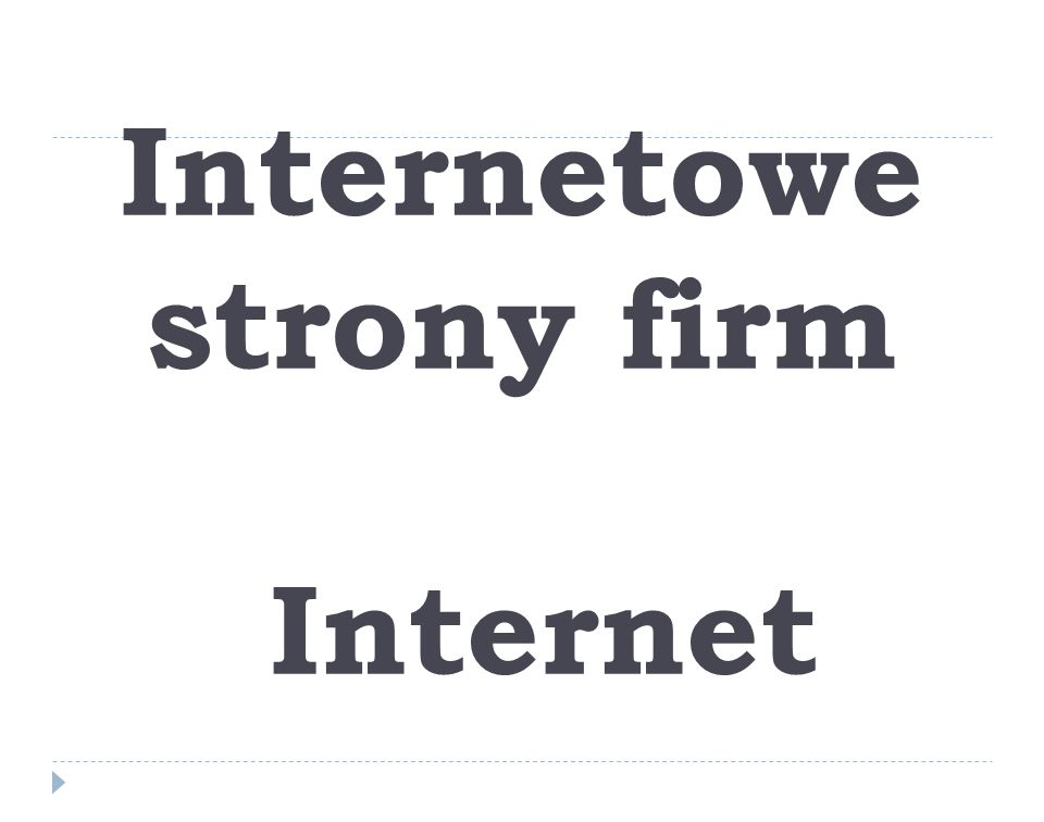 Internetowe strony firm Internet