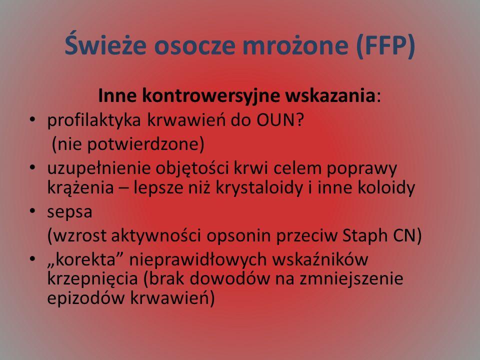 Świeże osocze mrożone (FFP)