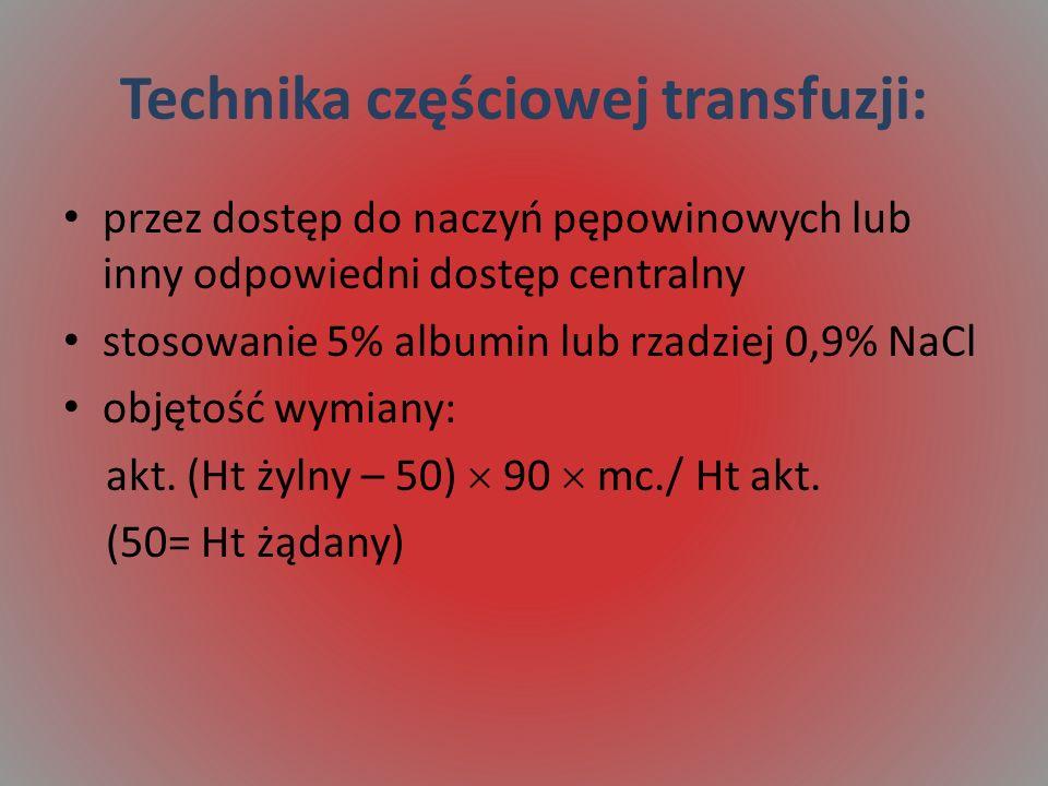 Technika częściowej transfuzji: