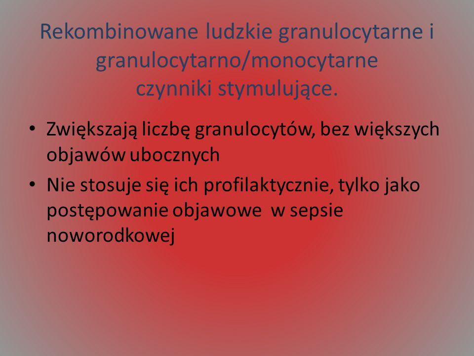 Rekombinowane ludzkie granulocytarne i granulocytarno/monocytarne czynniki stymulujące.