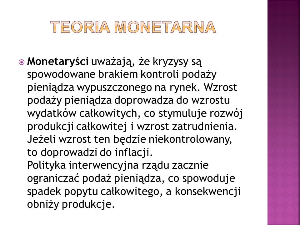 TEORIA MONETARNA
