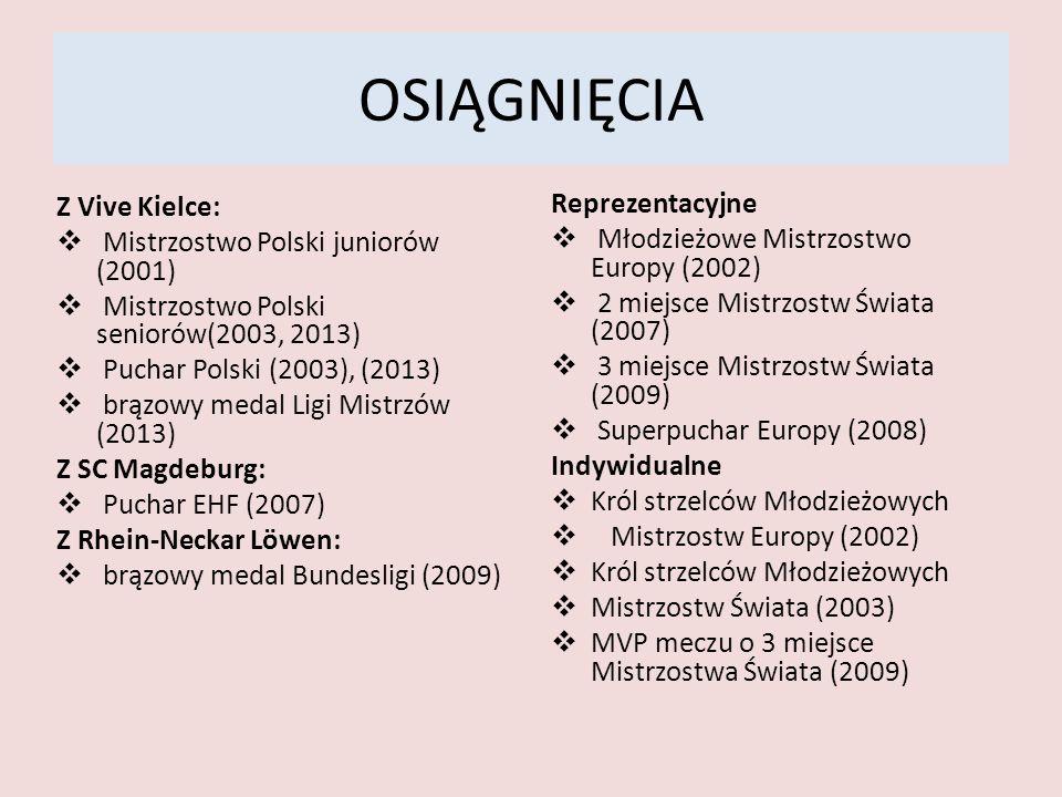OSIĄGNIĘCIA Z Vive Kielce: Reprezentacyjne
