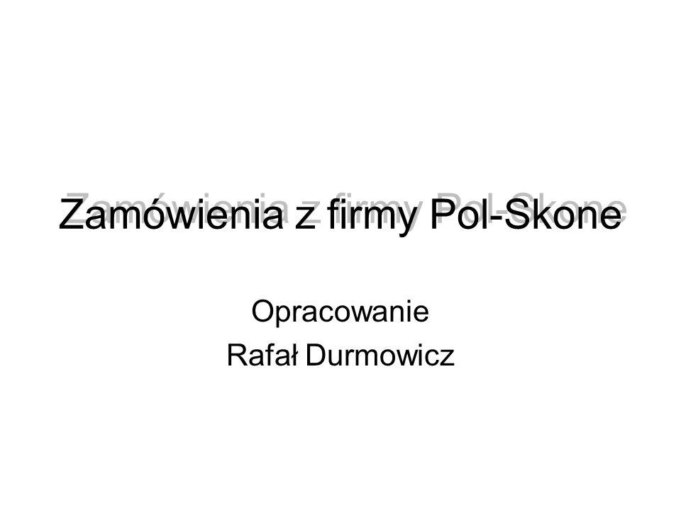 Zamówienia z firmy Pol-Skone