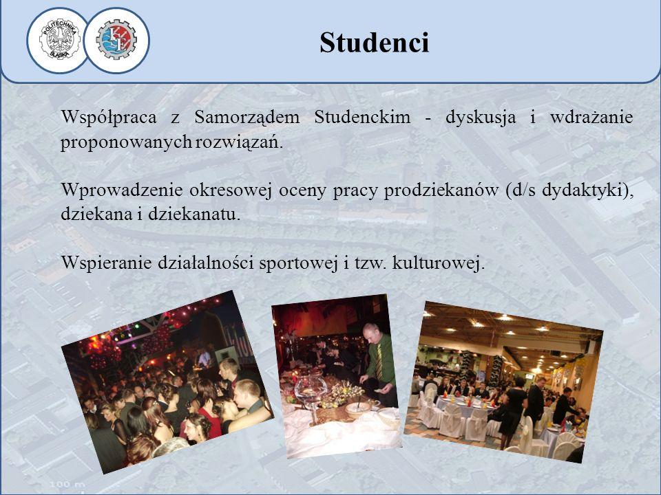 Studenci Współpraca z Samorządem Studenckim - dyskusja i wdrażanie proponowanych rozwiązań.