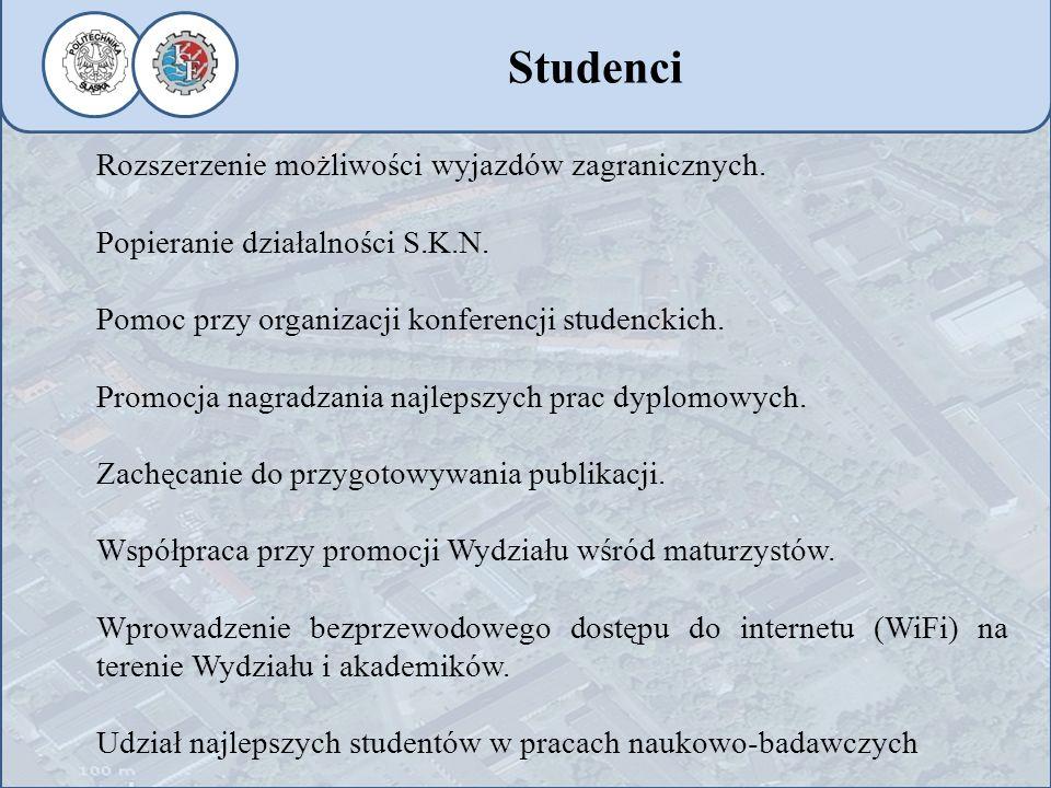 Studenci Rozszerzenie możliwości wyjazdów zagranicznych.