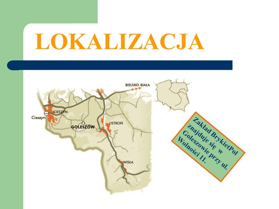 LOKALIZACJA Zakład BrykietPol znajduje się w Goleszowie przy ul. Wolności 11.