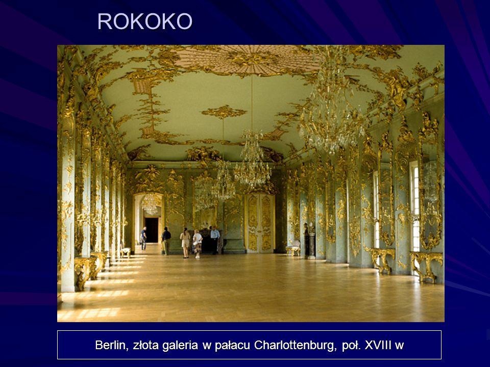 Berlin, złota galeria w pałacu Charlottenburg, poł. XVIII w