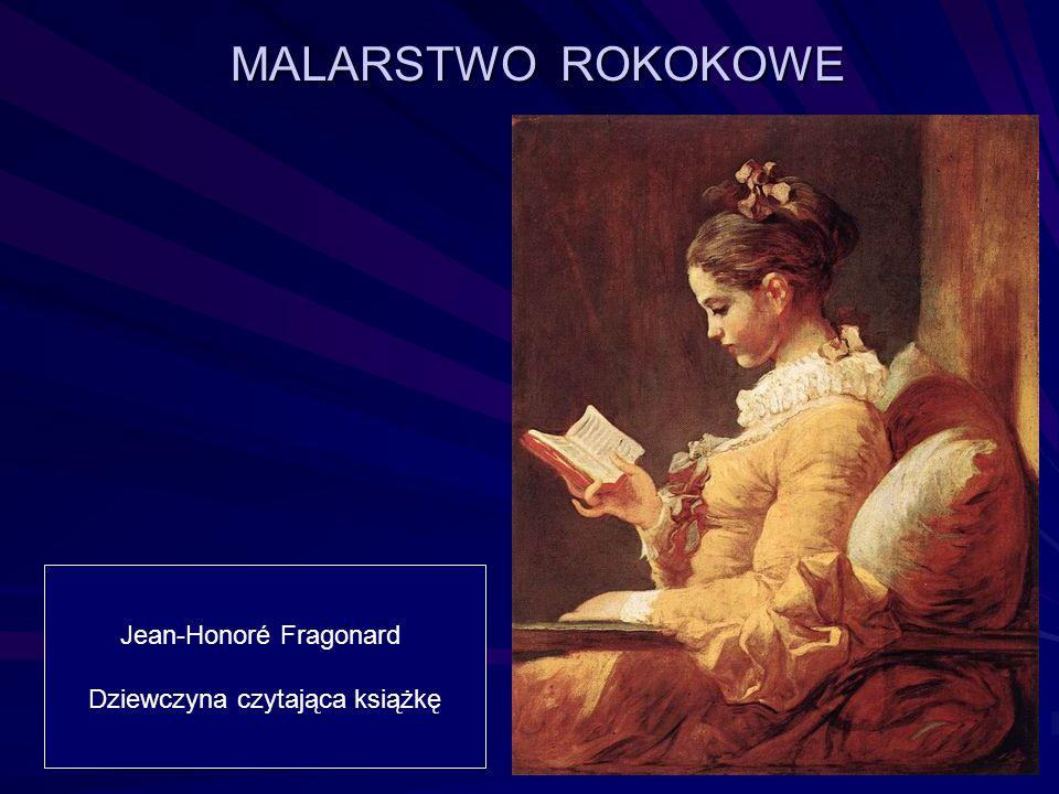 MALARSTWO ROKOKOWE Jean-Honoré Fragonard Dziewczyna czytająca książkę