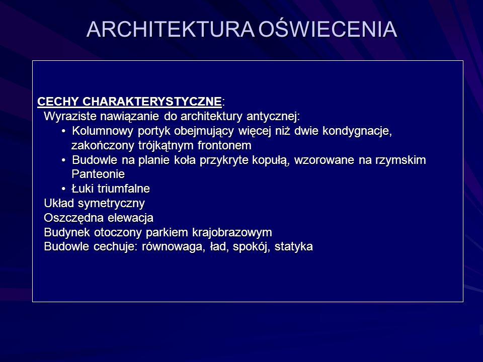 ARCHITEKTURA OŚWIECENIA