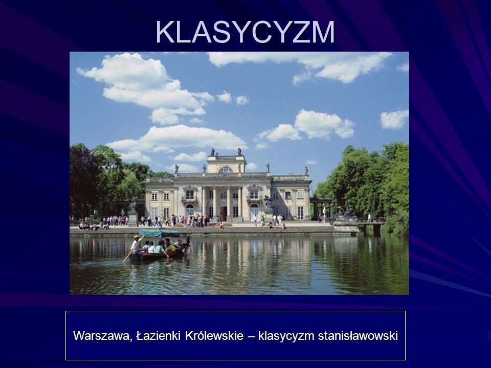 Warszawa, Łazienki Królewskie – klasycyzm stanisławowski