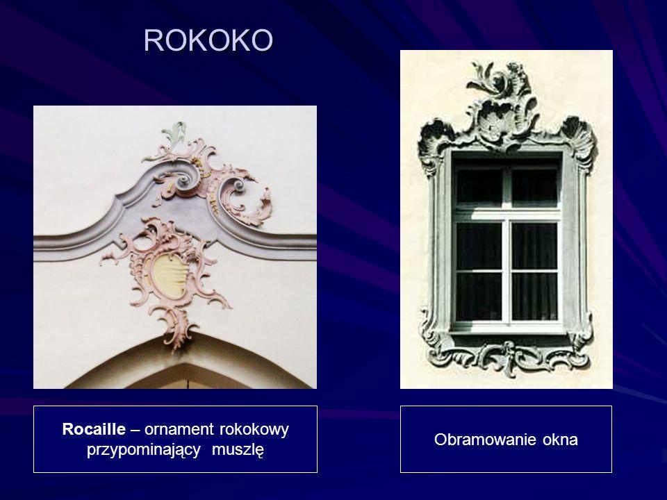 ROKOKO Rocaille – ornament rokokowy Obramowanie okna