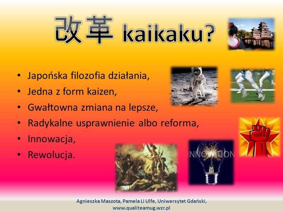 改革 kaikaku Japońska filozofia działania, Jedna z form kaizen,