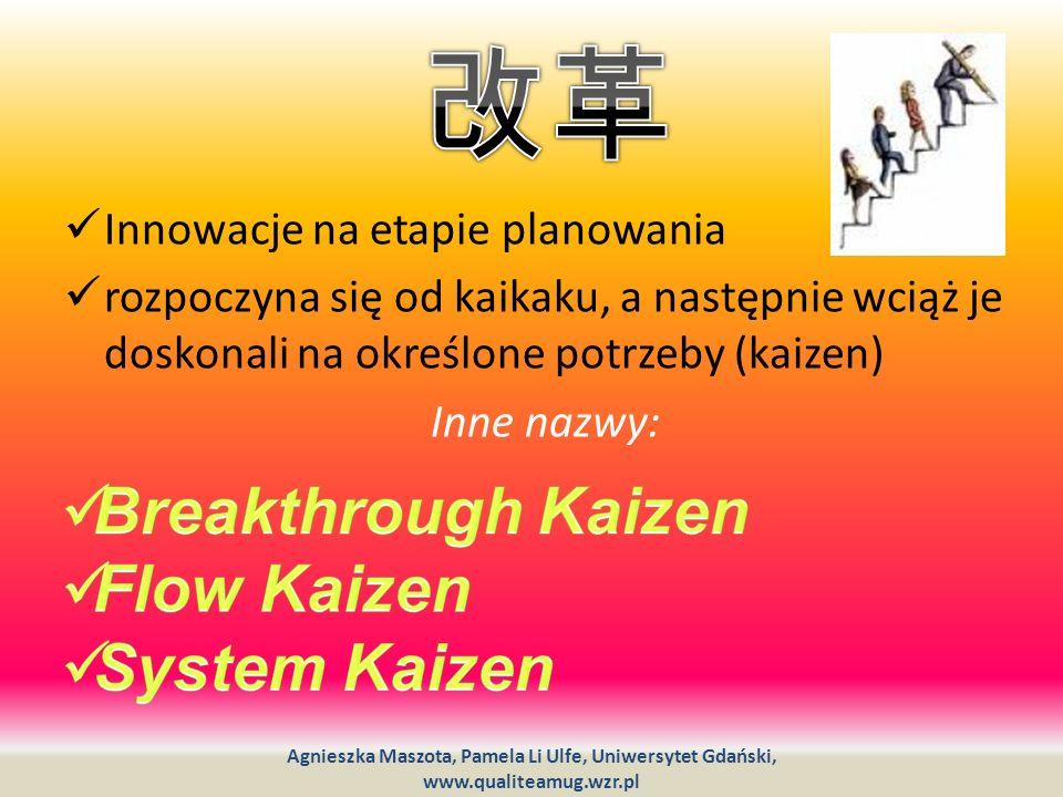 改革 Breakthrough Kaizen Flow Kaizen System Kaizen