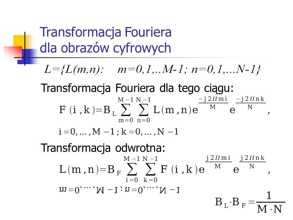 Transformacja Fouriera dla obrazów cyfrowych