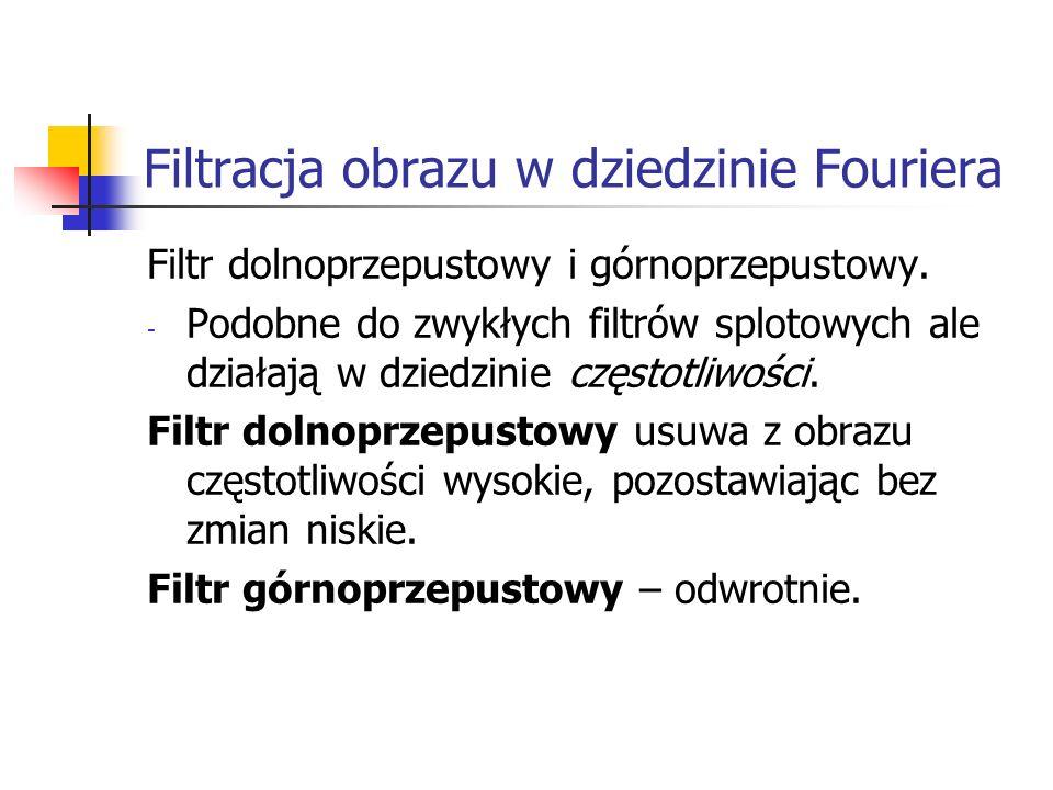 Filtracja obrazu w dziedzinie Fouriera