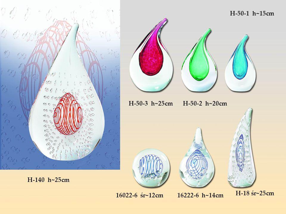 H-50-1 h~15cm H-50-3 h~25cm. H-50-2 h~20cm. H-140 h~25cm.