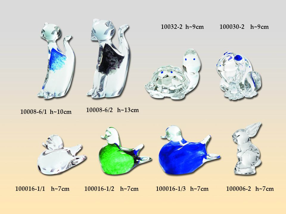 10032-2 h~9cm100030-2 h~9cm. 10008-6/1 h~10cm. 10008-6/2 h~13cm. 100016-1/1 h~7cm. 100016-1/2 h~7cm.