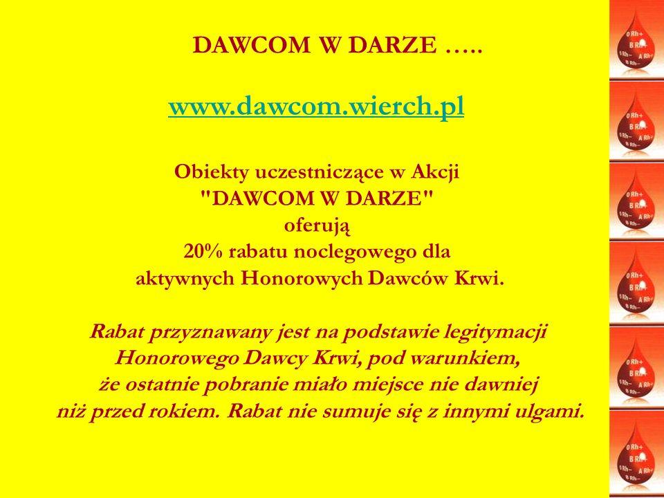 www.dawcom.wierch.pl DAWCOM W DARZE ….. Obiekty uczestniczące w Akcji