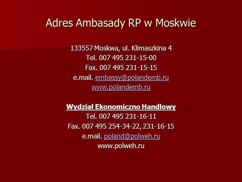 Adres Ambasady RP w Moskwie