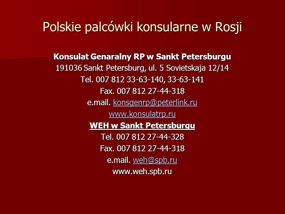Polskie palcówki konsularne w Rosji