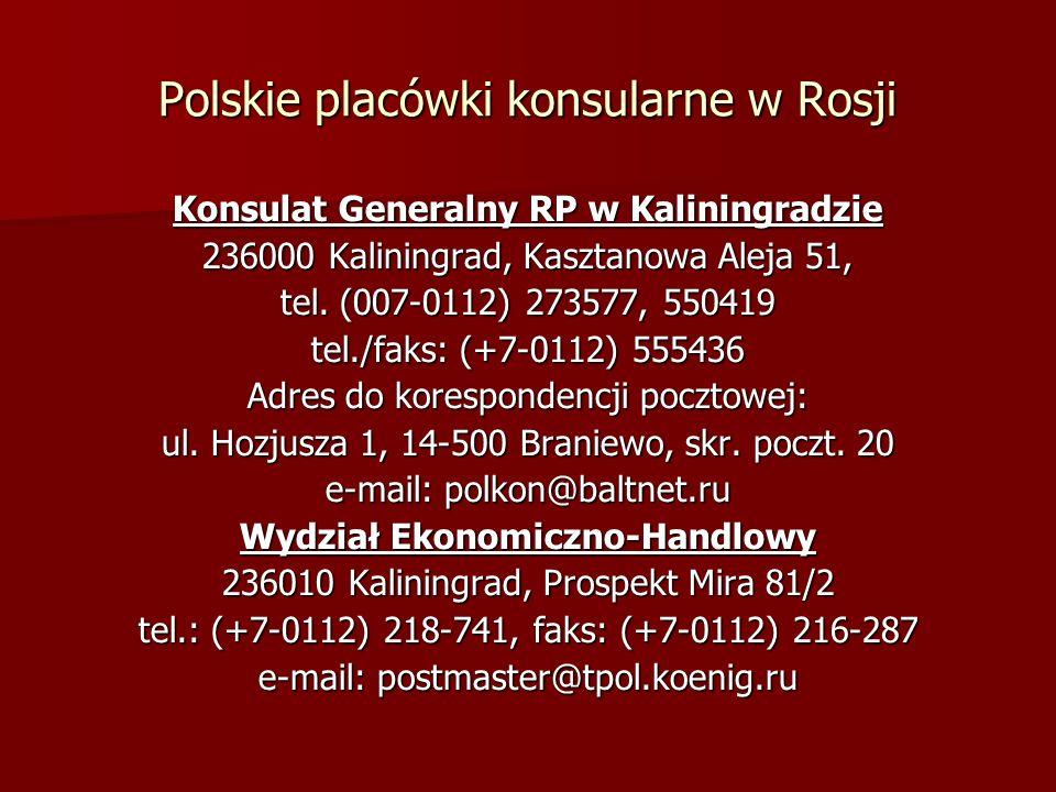 Polskie placówki konsularne w Rosji