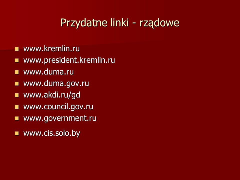 Przydatne linki - rządowe
