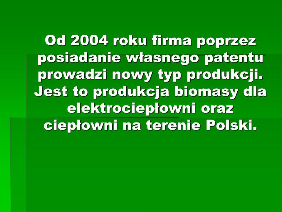 Od 2004 roku firma poprzez posiadanie własnego patentu prowadzi nowy typ produkcji.
