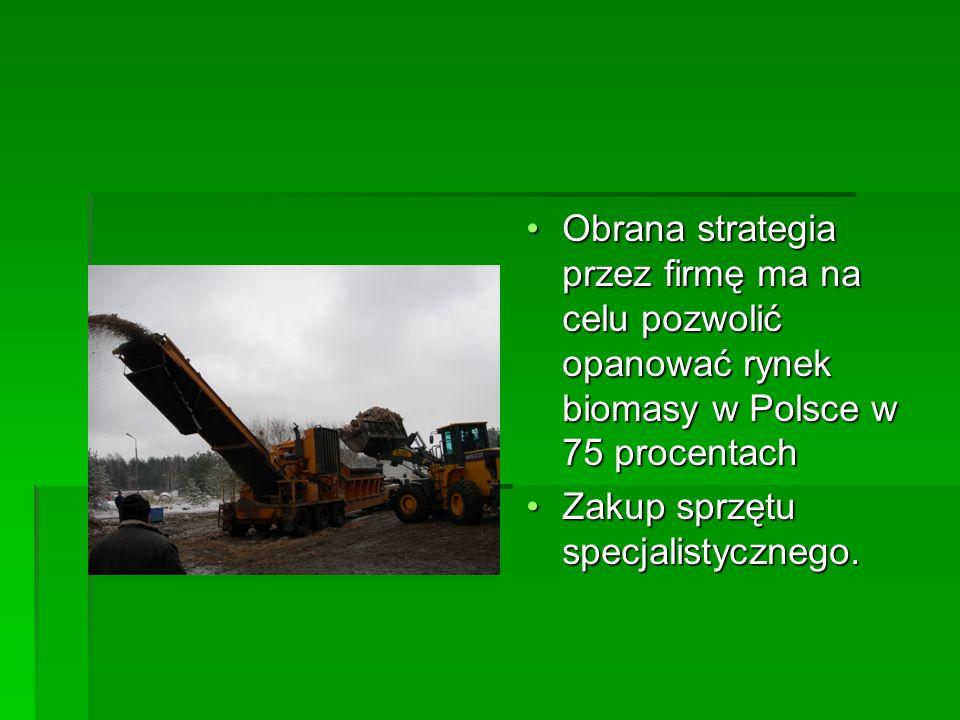 Obrana strategia przez firmę ma na celu pozwolić opanować rynek biomasy w Polsce w 75 procentach