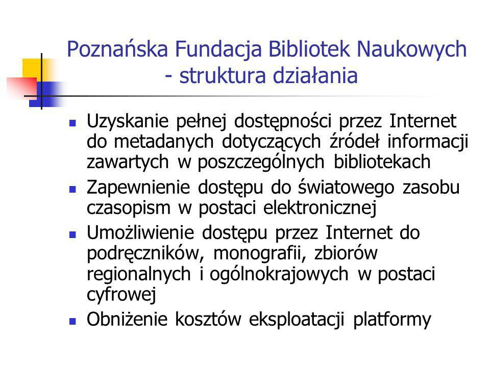 Poznańska Fundacja Bibliotek Naukowych - struktura działania