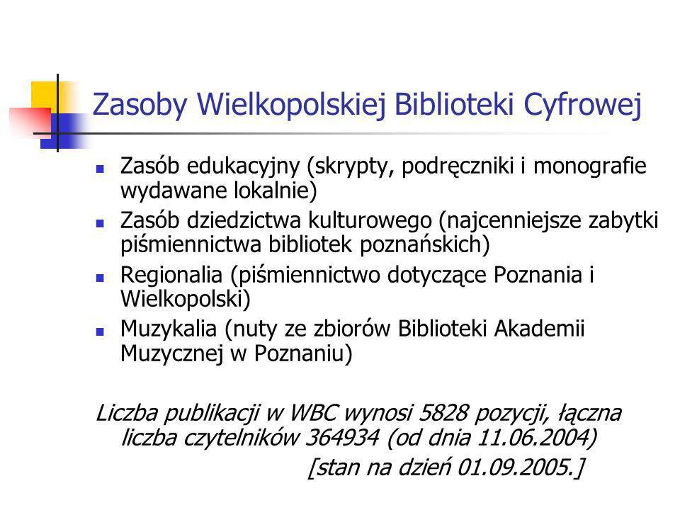 Zasoby Wielkopolskiej Biblioteki Cyfrowej