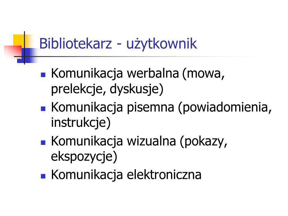 Bibliotekarz - użytkownik