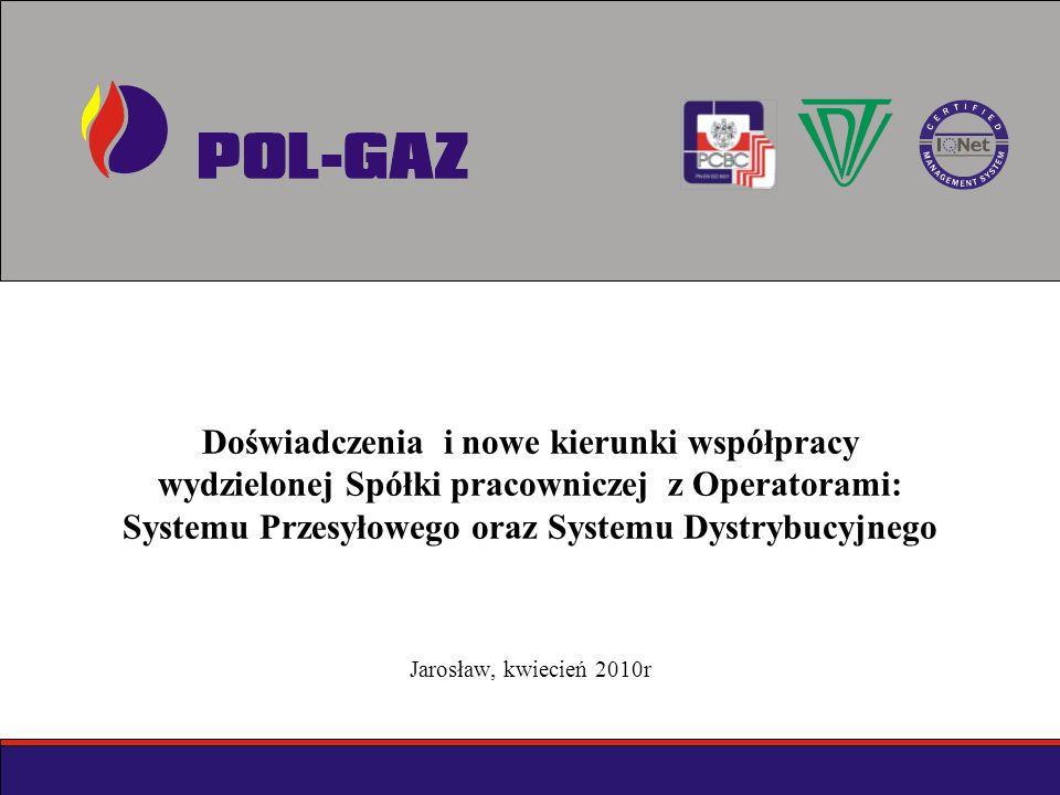 Doświadczenia i nowe kierunki współpracy wydzielonej Spółki pracowniczej z Operatorami: Systemu Przesyłowego oraz Systemu Dystrybucyjnego