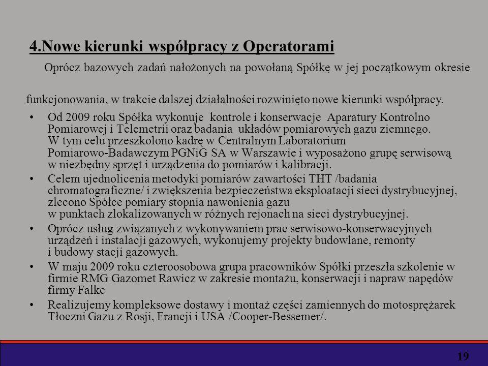 4.Nowe kierunki współpracy z Operatorami