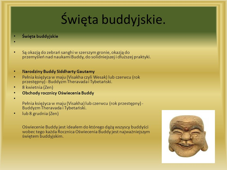 Święta buddyjskie. Święta buddyjskie