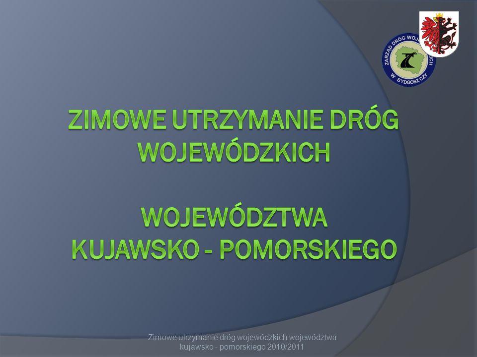 Zimowe utrzymanie dróg wojewódzkich województwa kujawsko - pomorskiego