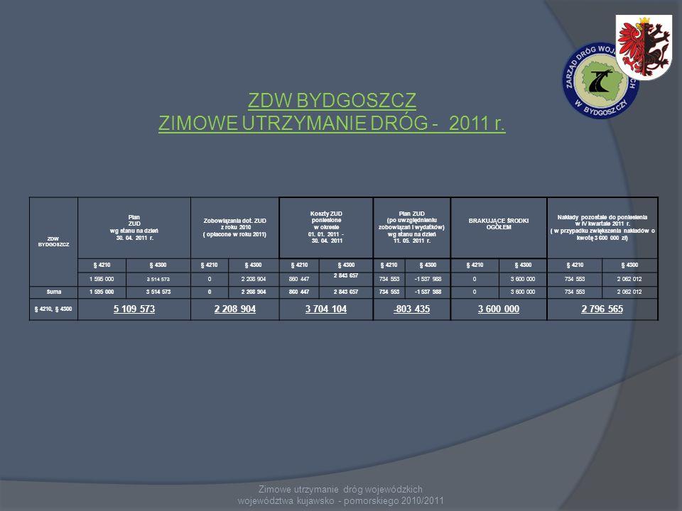 ZDW BYDGOSZCZ ZIMOWE UTRZYMANIE DRÓG - 2011 r.