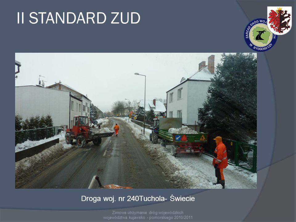 II STANDARD ZUD Droga woj. nr 240Tuchola- Świecie