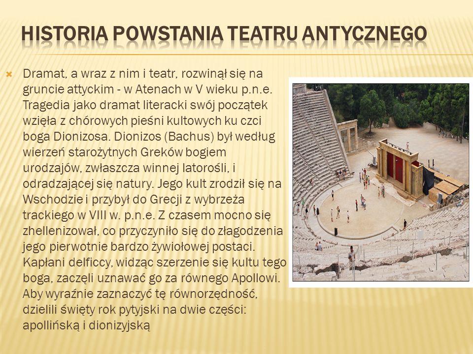 Historia powstania teatru antycznego
